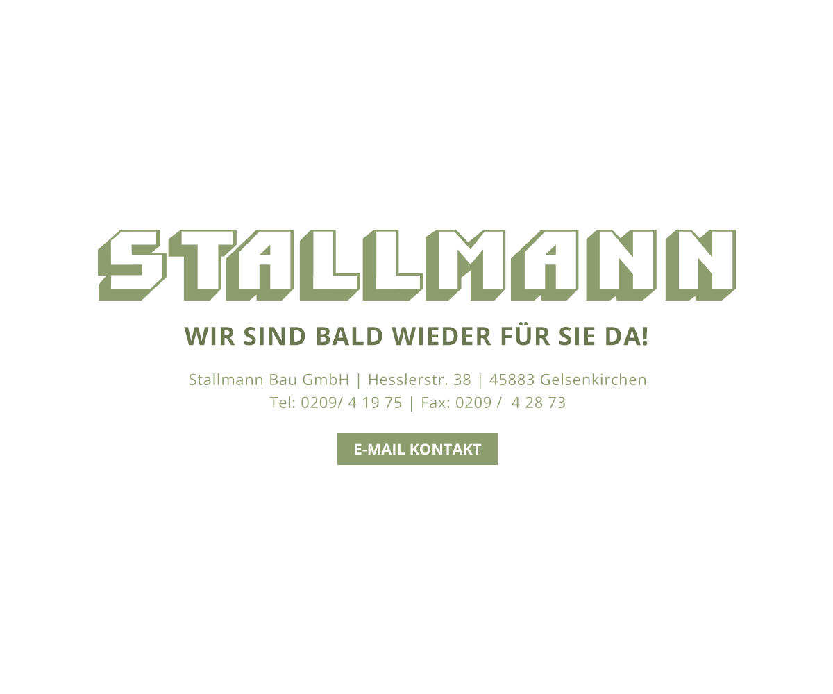 Die Website von Stallmann Bau ist bald wieder für Sie da